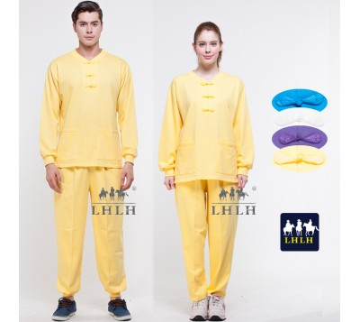 Yellow Traditional Chinese Clothing Long-Sleeve (Men/Women)