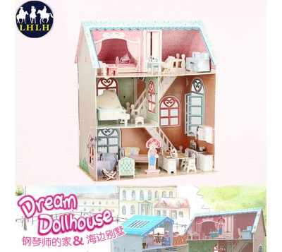 Dollhouse 3D Puzzle Pianist's Home
