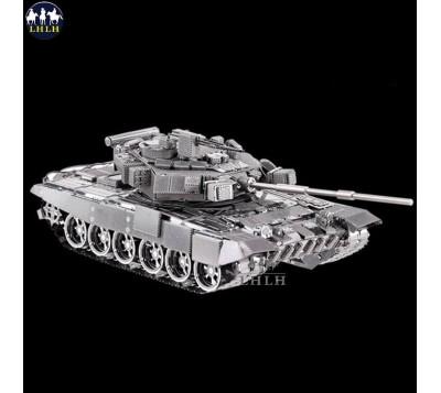 DIY金属拼装军事装甲模型 T-90A主战坦克车创意礼物送男朋友
