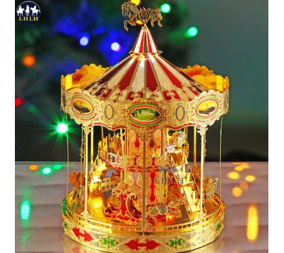 Merry-Go-Round and Carousel Metal Model