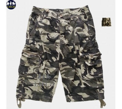 Men's Camouflage Work Shorts With Multiple Pockets
