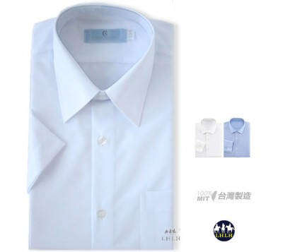 Short-sleeved Plain Non-iron Shirts