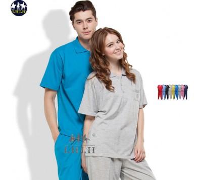 短袖素面运动套装 Polo衫 (男/女) 衣平裤平
