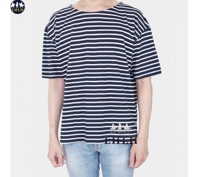 寬鬆橫條紋T恤短袖 正韓 韓國