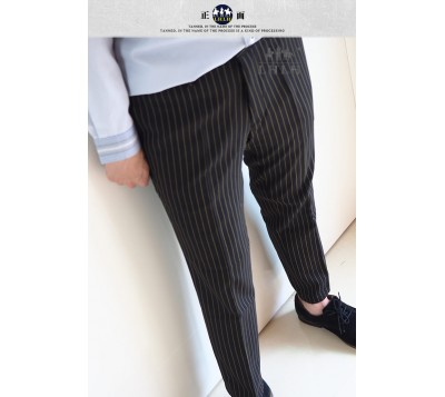 Straight Striped Suit Pants Korean Pants